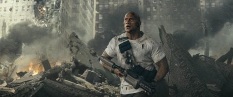 """The Rock"" returns to action in ""Rampage"""