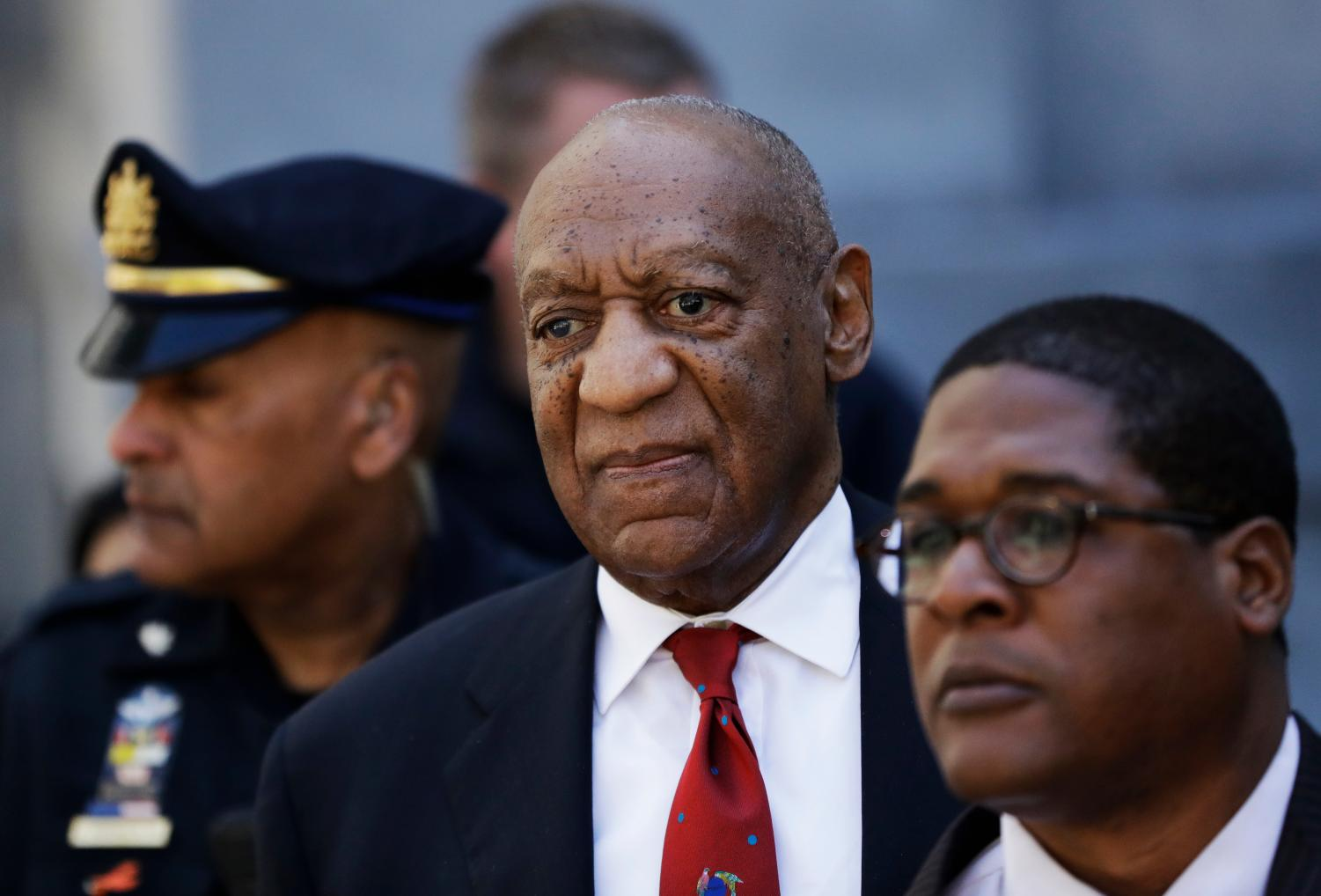 Bill Cosby leaves the courthouse after his conviction on April 26.