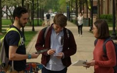 Political science undergraduates register fellow students to vote