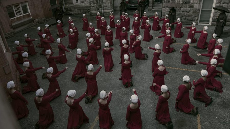 The+second+season+of+%22The+Handmaid%27s+Tale%22+premiered+on+Hulu+on+April+25.+The+critically+acclaimed+show+is+based+on+a+famous+dystopian+novel+by+Margaret+Atwood.%0A%28Image+courtesy+of+IMBD%29