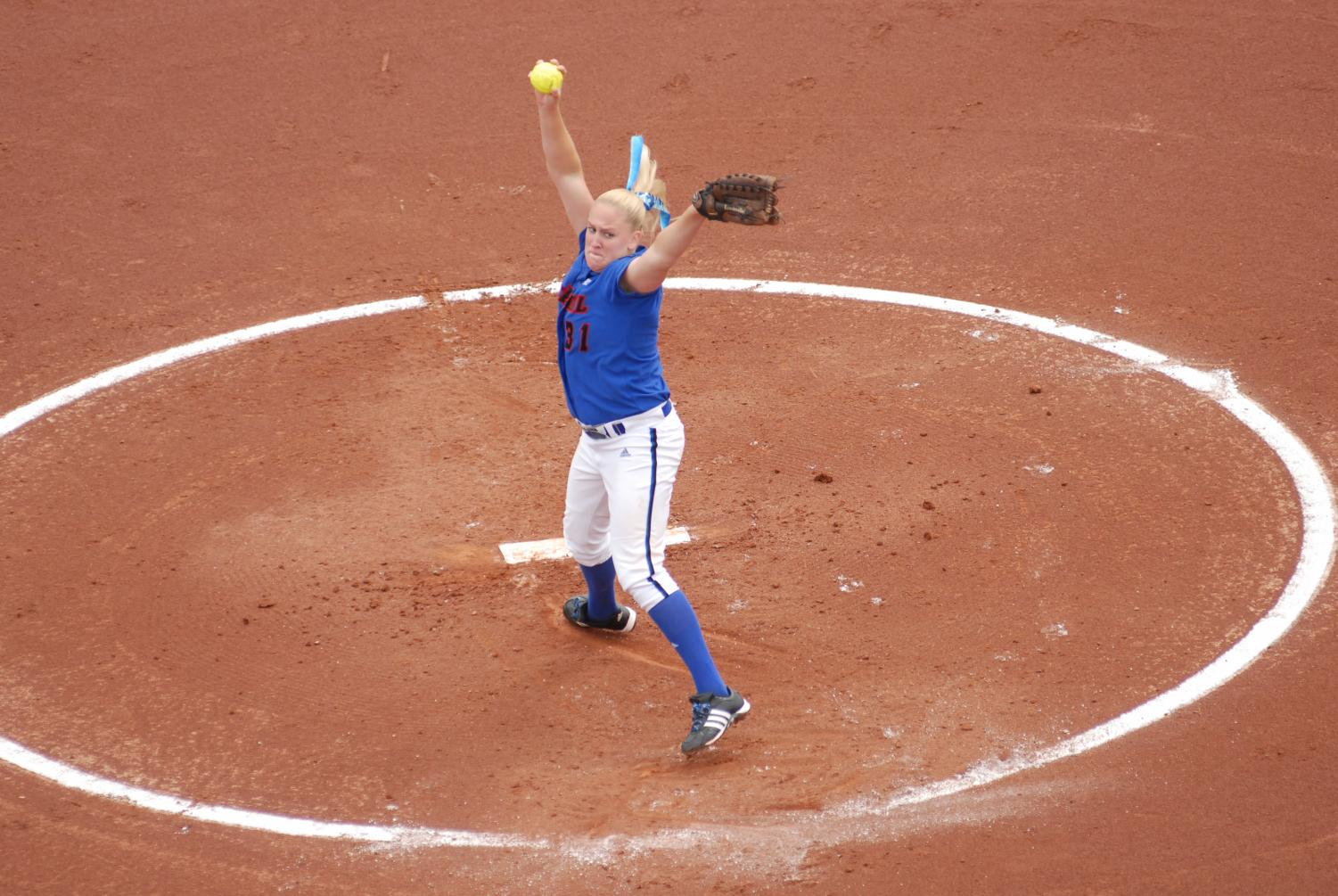Tracie Adix-Zins was a star pitcher for the Blue Demons from 2003 until 2007. (Photo Courtesy of DePaul Athletics)