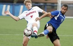 DePaul rebounds from loss to Oakland with shutout win