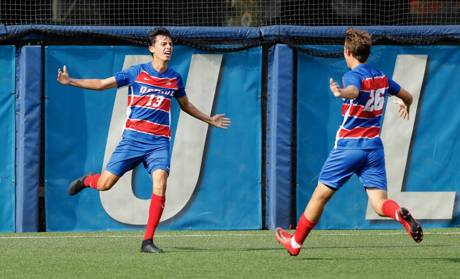 Monday's goal was Mojarro's first since 2016 and only his second career goal. Photo courtesy of DePaul Athletics
