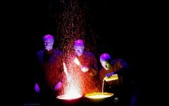 Blue Man Group briefly lights up Wintrust