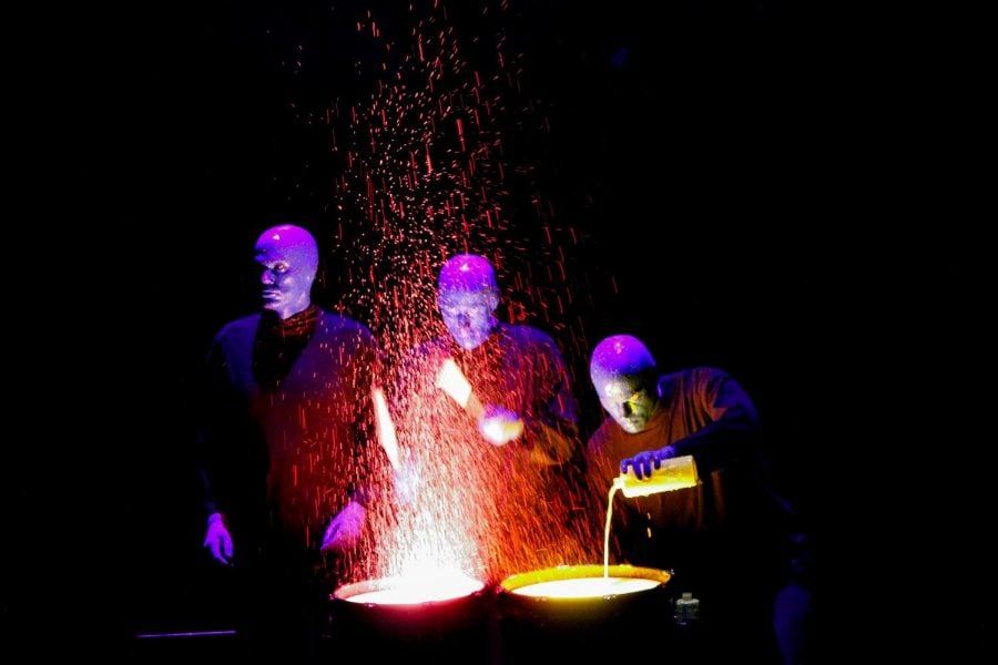 Blue Man Group briefly lights up Wintrust