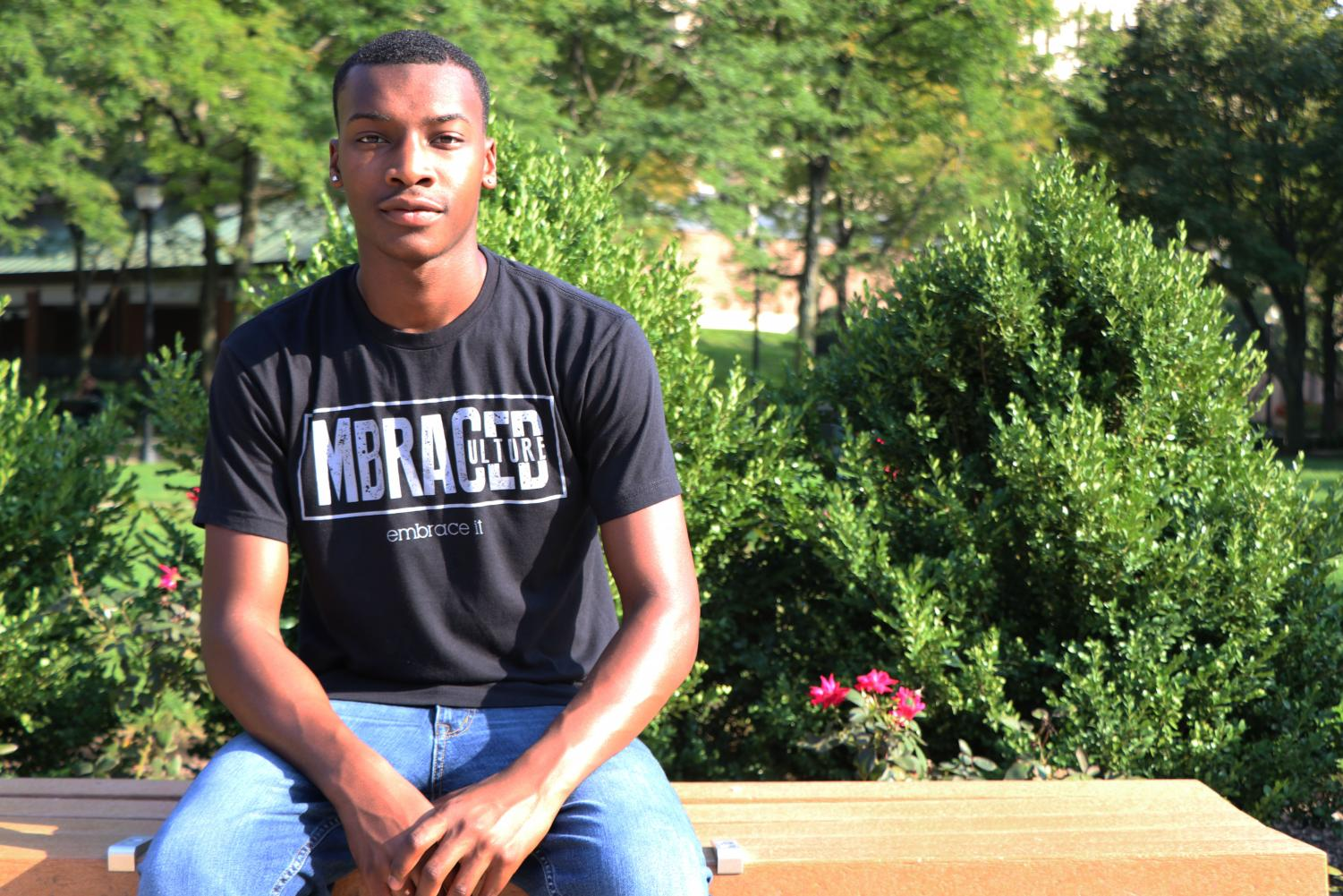 Braylen Stevens, above, is the founder of MBRACED Culture, an e-commerce brand that hopes to promote acceptance of others and create a sense of community.