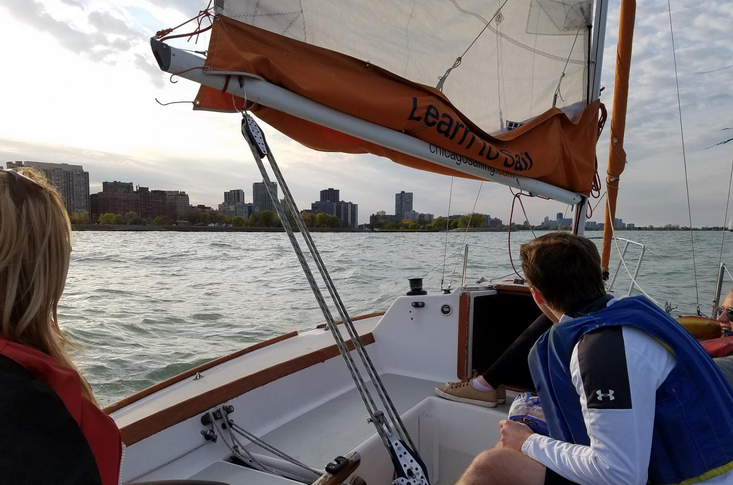 The DePaul sailing club has partnered with Chicago Sailing in Belmont Harbor to provide them access to gear and boats.