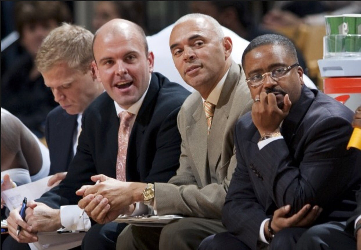 Rick Carter (Left) joined Dave Leitao's (Right) coaching staff in April 2015 as the program's associate head coach.
