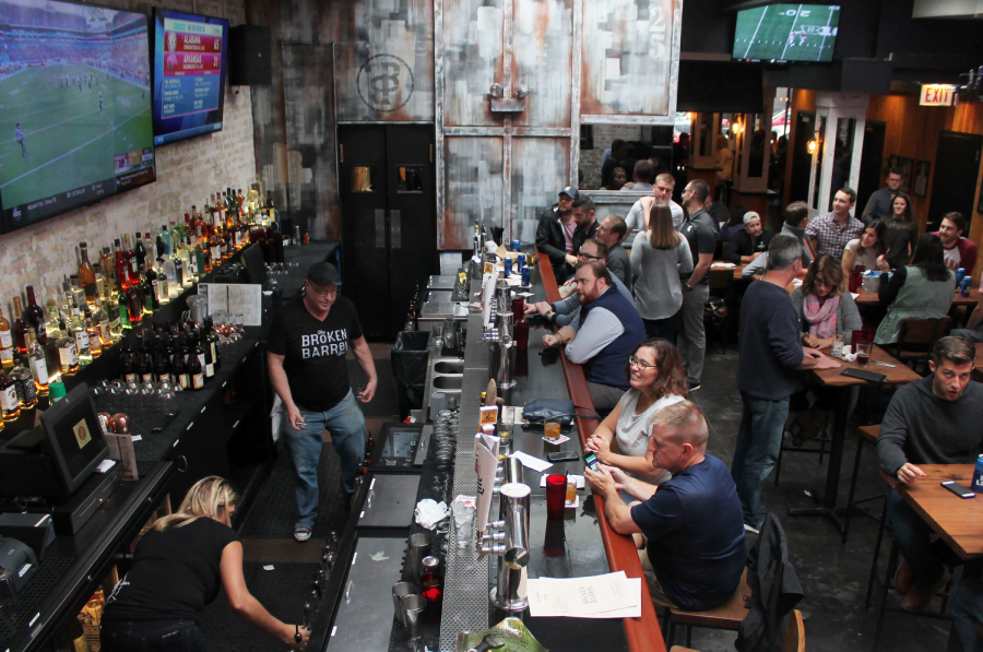 Opening in early September, the Broken Barrel Bar features a 2000 square foot beer garden, as well as board games people can play while they enjoy signature-house meats.