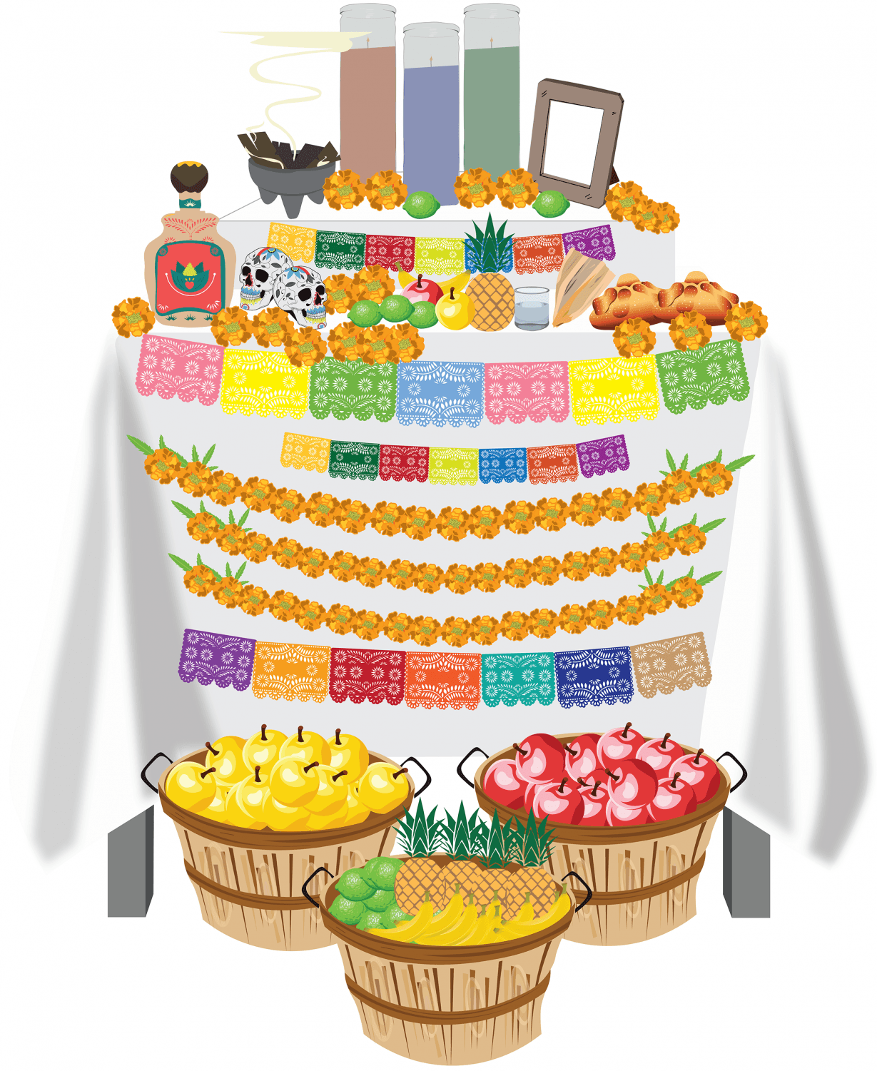 Those who celebrate Day of the Dead often decorate ofrendas, ritual altars decorated with personal items meant to invite the spirit of their lost loved ones.