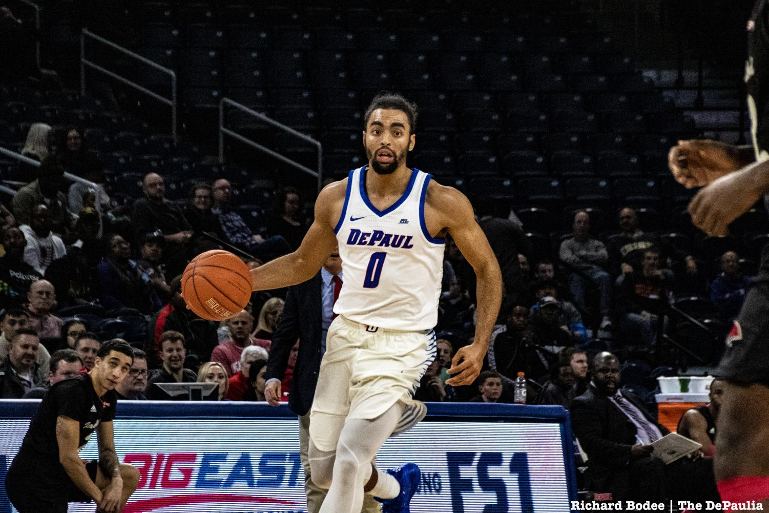 Lyrik Shreiner played a Blue Demon career- high 14 minutes in DePaul's 81-71 win against Incarnate Word on Wednesday night. Richard Bodee I The DePaulia