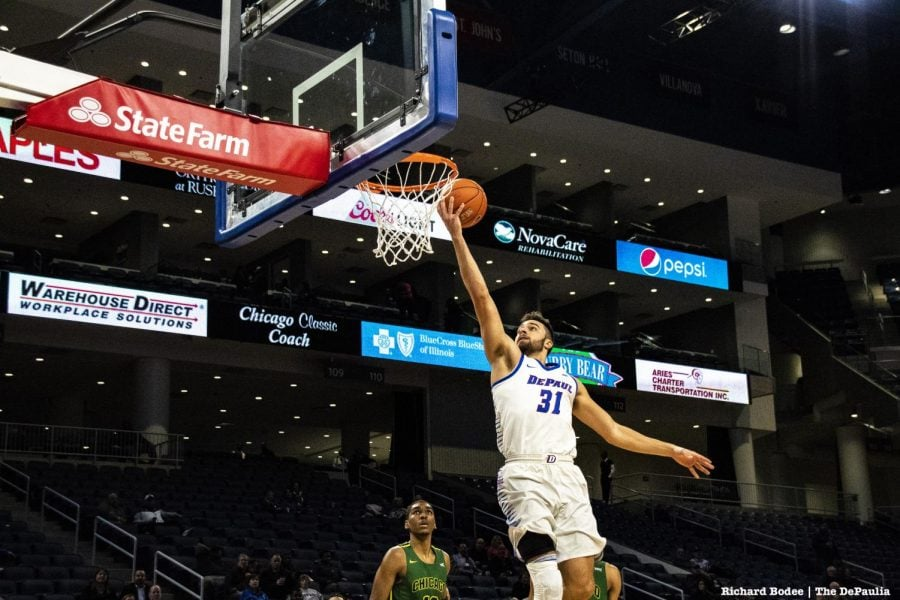 DePaul+senior+guard+Max+Strus+rises+for+a+layup+during+DePaul%E2%80%99s+104-70+victory+over+Chicago+State+Wednesday+night+at+Wintrust+Arena.+Richard+Bodee+%7C+The+DePaulia