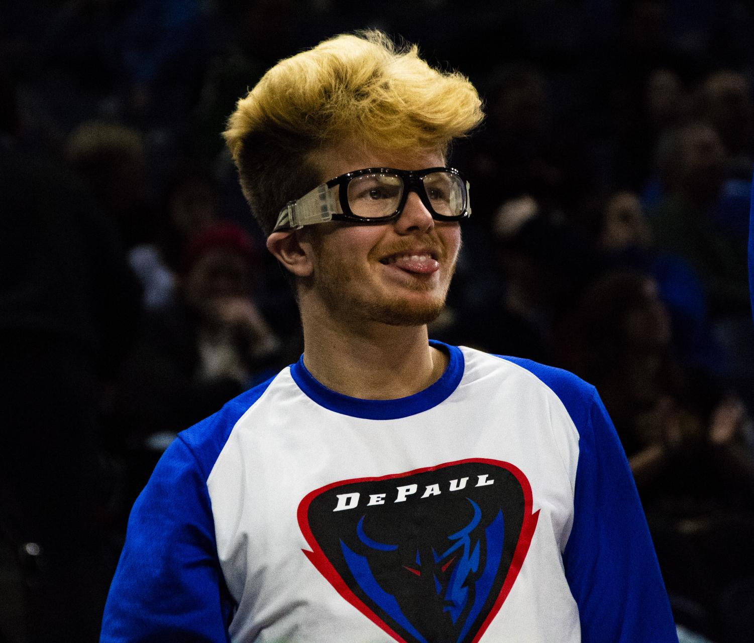 Pantelis Xidias has gained notoriety for his unique antics on DePaul's bench. Richard Bodee I The DePaulia