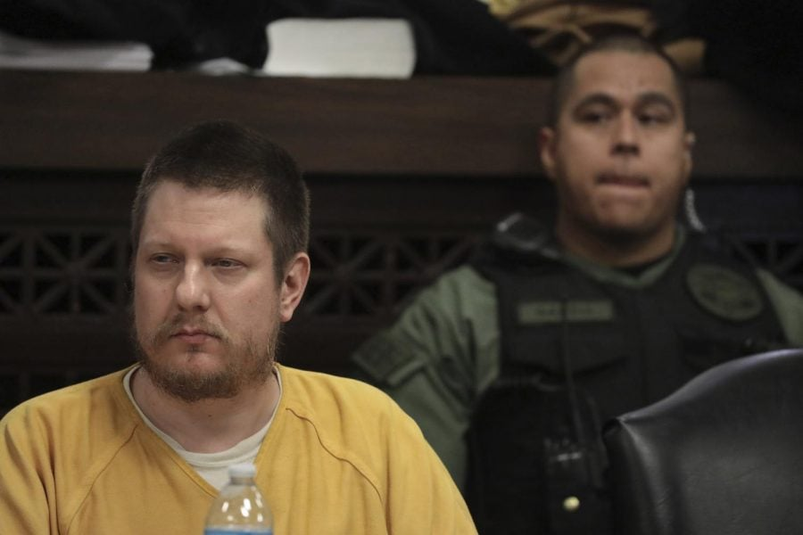 Former Chicago police Officer Jason Van Dyke attends his sentencing hearing for the murder of Laquan McDonald.