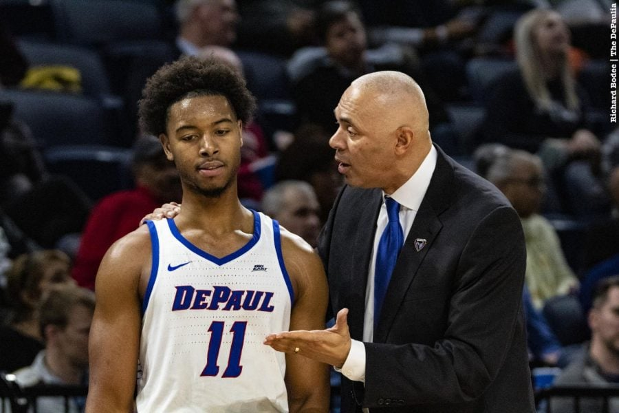 DePaul+fell+to+Butler+87-69+at+Wintrust+Arena+on+Wednesday+night%2C+snapping+a+two-game+winning+streak.+Richard+Bodee+I+The+DePaulia+