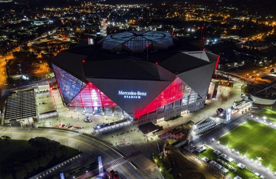 Mercedes-Benz Stadium in Atlanta will be the site of Super Bowl LIII on Sunday, Feb. 3.