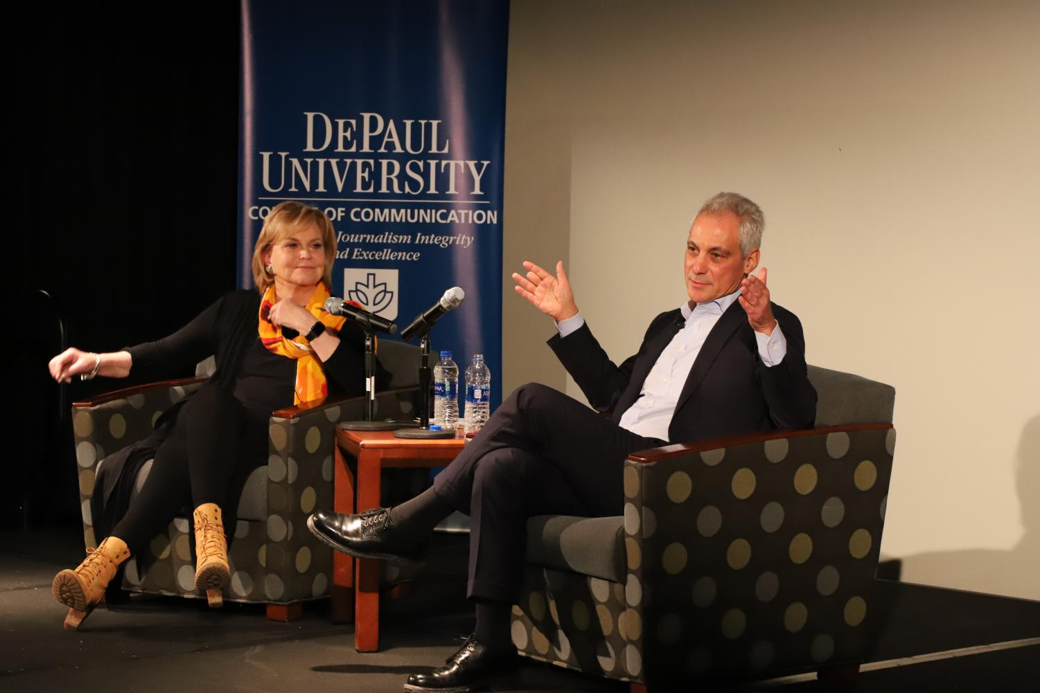 Mayor Rahm Emanuel joins journalism professor Carol Marin on Tuesday, Jan. 28 to speak to students about the relationship between  journalists and public officials.