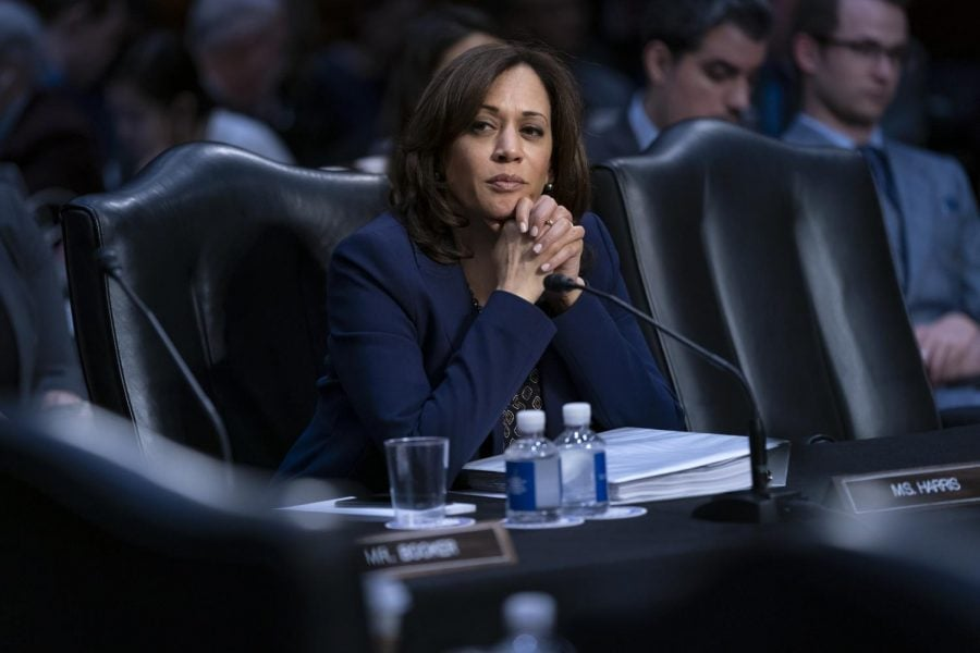 Sen.+Kamala+Harris+on+Capitol+Hill+on+Feb.+7%2C+2019.+