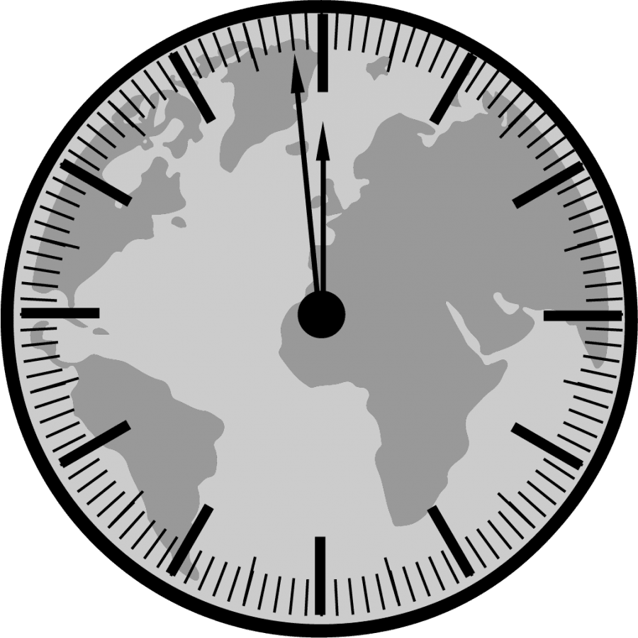 The end of the world as we know it?;  Doomsday clock at 2 minutes to midnight