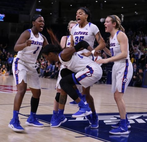 Photo gallery: Blue Demons punch ticket to tournament with comeback victory against Marquette
