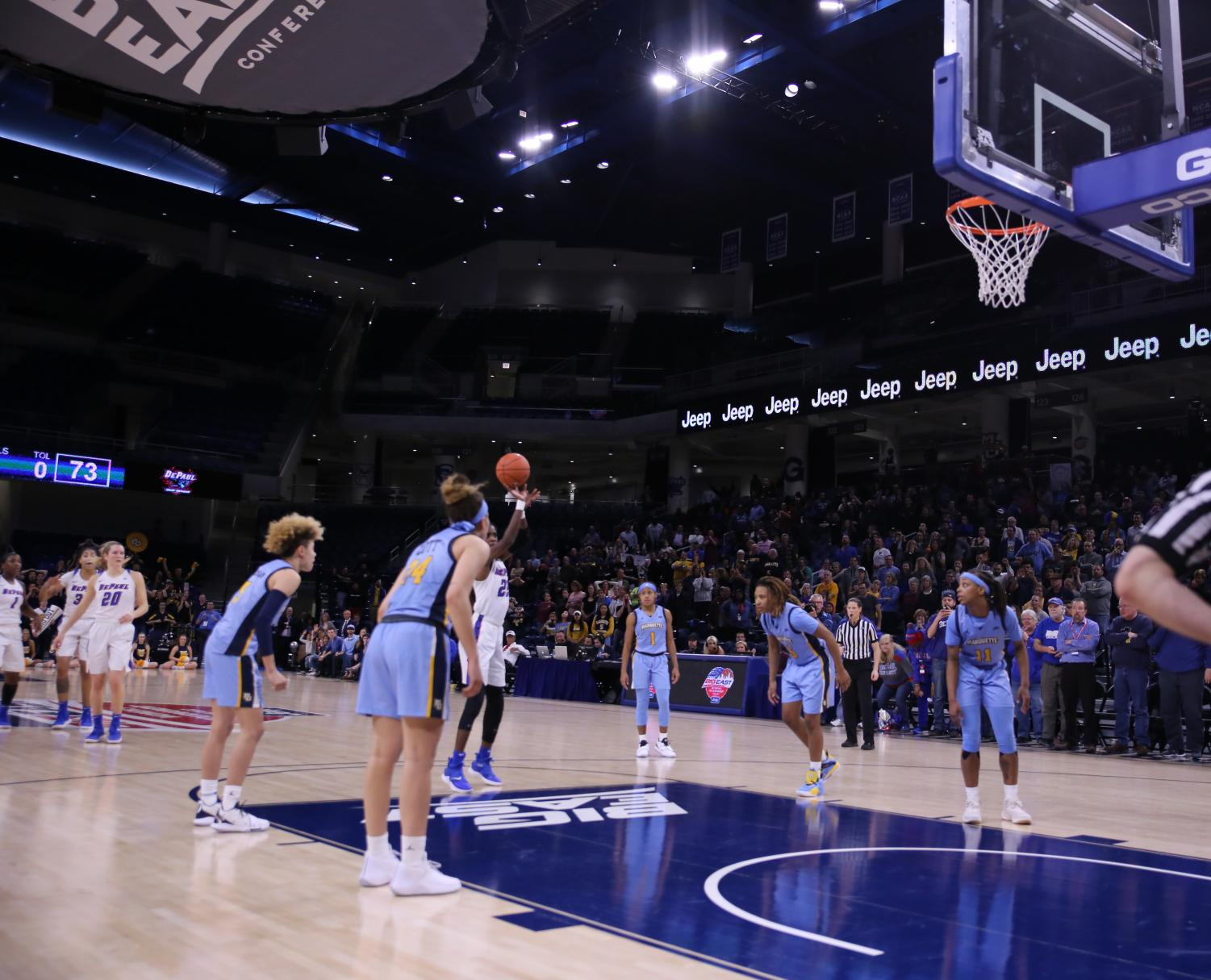 DePaul+junior+forward+Chante+Stonewall+knocks+down+the+game-winning+free+throw+to+help+DePaul+top+Marquette+74-73+in+front+of+a+reported+attendance+of+2%2C407+fans.+Alexa+Sandler+%7C+The+DePaulia