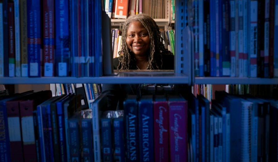 FILE-DePaul political science professor  Valerie Johnson combines her academic prowess with her dedication to social justice to bring reform to DePaul from the inside.