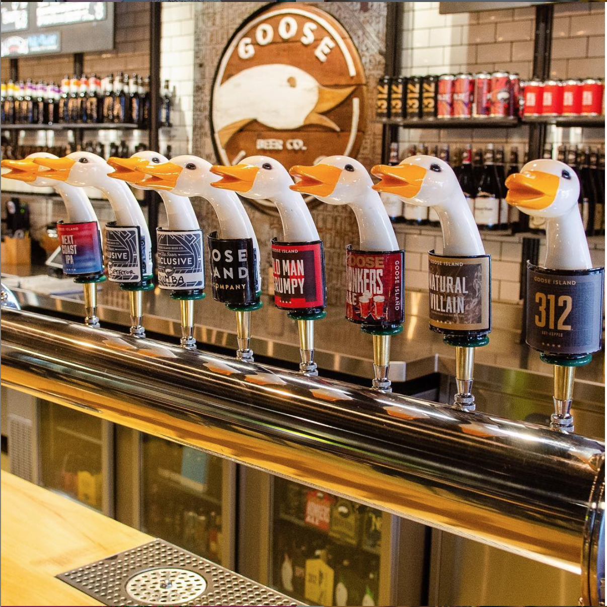 A lineup of the brews on tap at Goose Island Beer Co. on the North Side. Chicago was recently named the brewing capital of America.