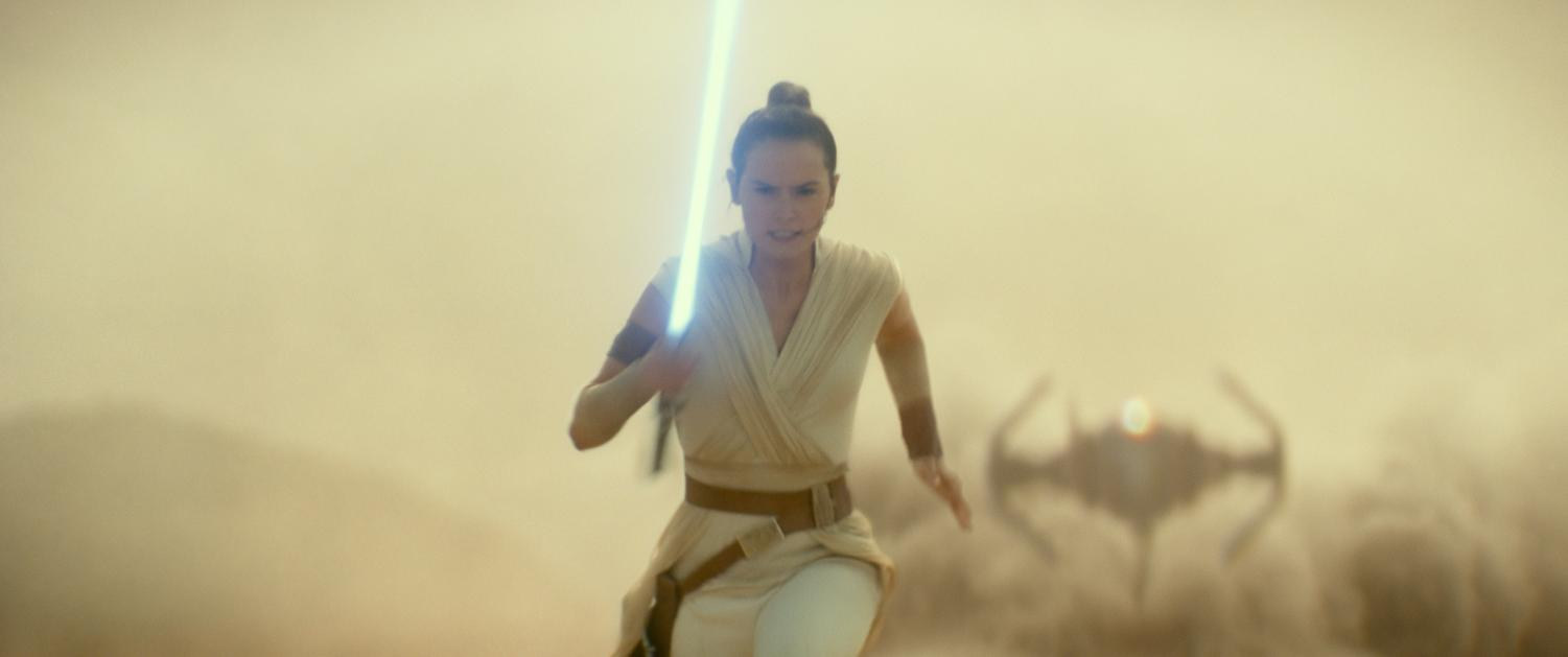 Daisy Ridley as Rey in a scene from