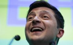 Comedian headed for landslide victory in Ukraine election