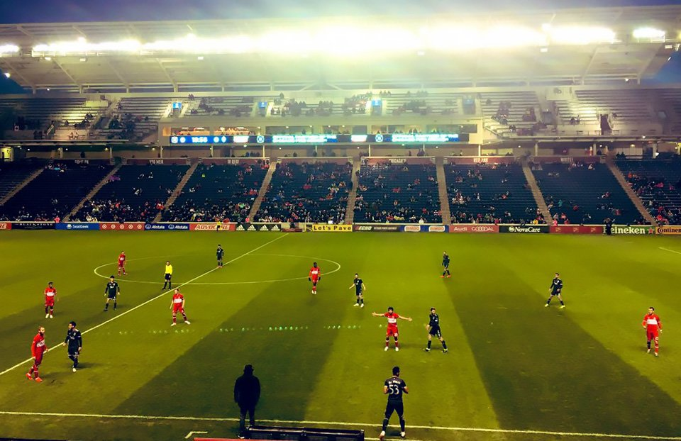 Only 10,439 people were in attendance for the Chicago Fire game against the Vancouver Whitecaps on April 12 at SeatGeek stadium.