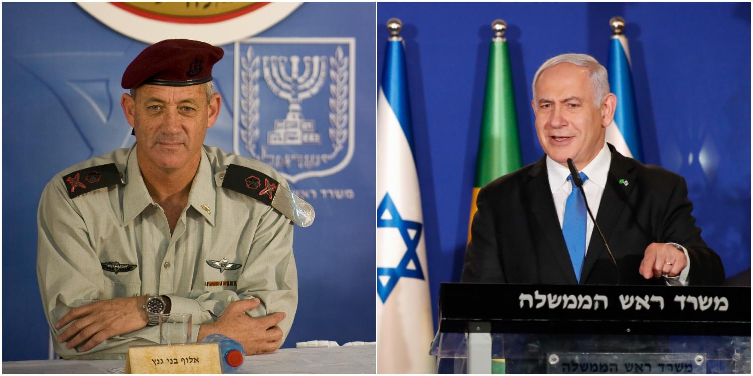 LEFT: Former chief of the Israeli Defence Forces Rav Aluf Binyamin