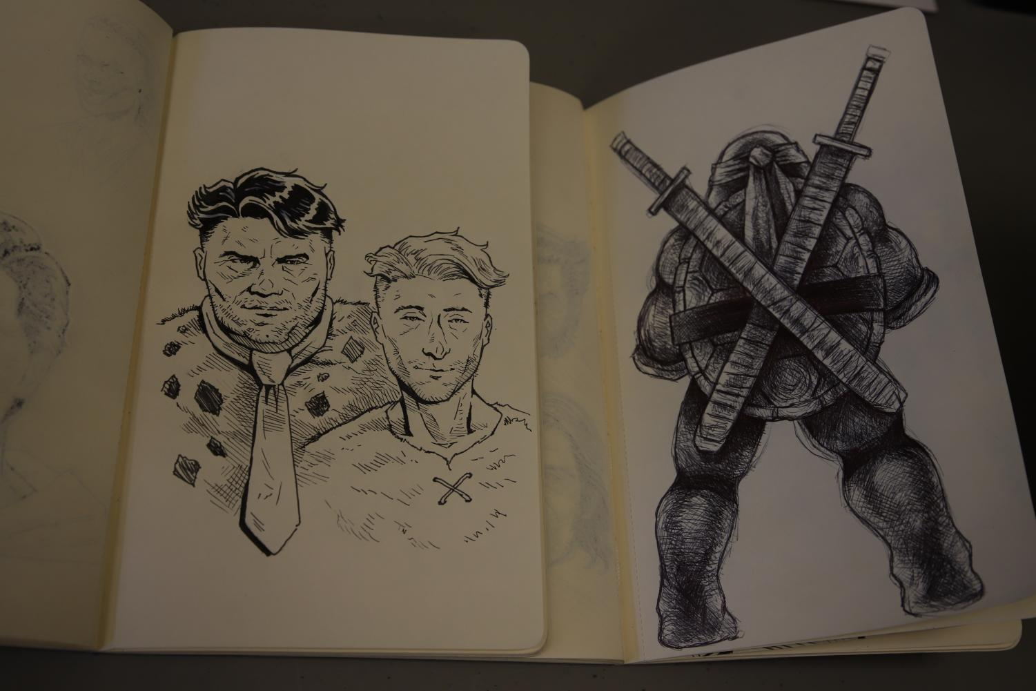 Notebook sketches from Gonzalez