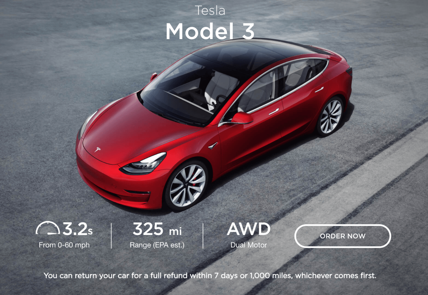 Tesla unveiled a more affordable version of its Model 3 sedan on Feb. 28 as well as an SUV, the Model Y, two weeks later. The carmaker is trying to partially branch out from its luxury image. (Screenshot | tesla.com)