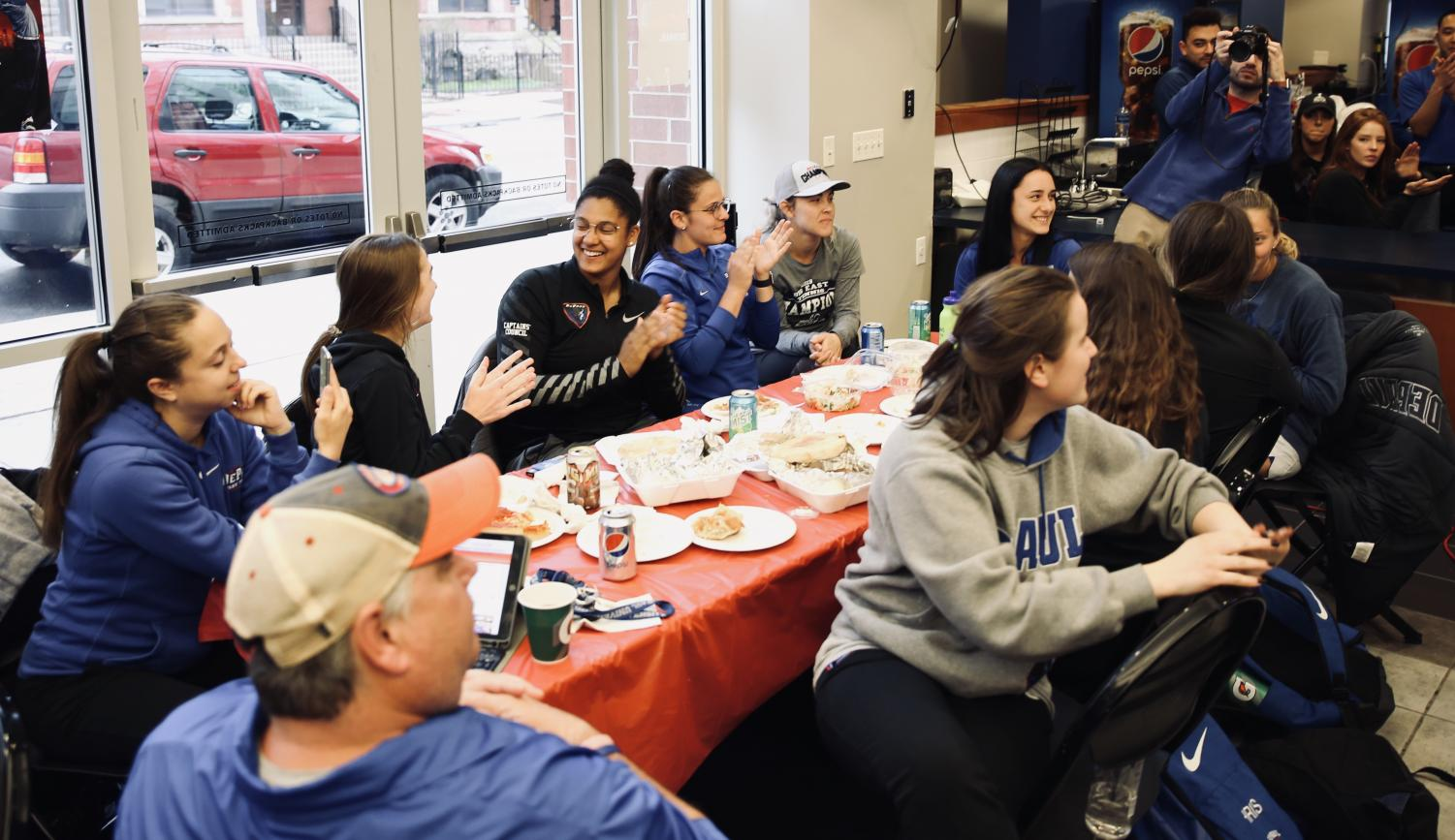 The DePaul women's tennis team finds out on Monday who they will be playing in the first round of the NCAA Tournament. The Blue Demons will face Kentucky on Friday in Ann Arbor, Michigan.