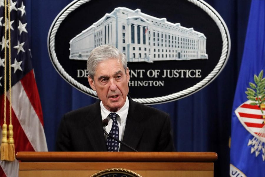 Special+counsel+Robert+Muller+speaks+at+the+Department+of+Justice+Wednesday%2C+May+29%2C+2019%2C+in+Washington%2C+about+the+Russia+investigation.