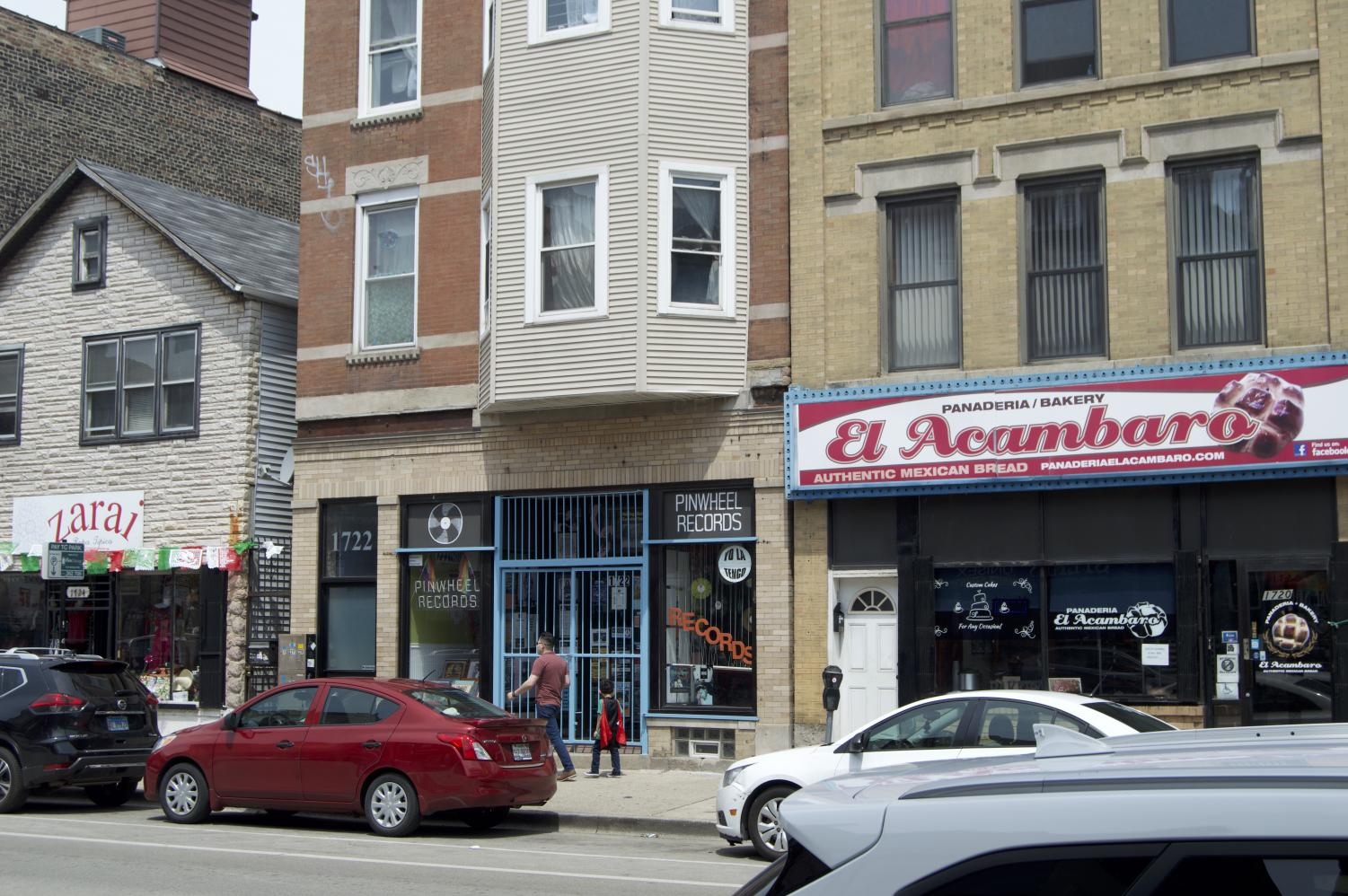Pilsen has seen the opening of trendy spots that invite people with a higher income, including Pinwheel Records which opened in 2015.