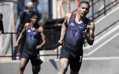 DePaul freshman Henry Larkin runs in the 4x100-dash last week in Randell Island, N.Y. Larkin will race in the NCAA West Preliminaries this week in Sacramento, California.