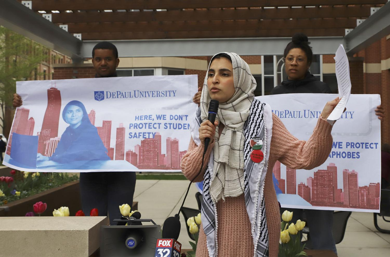 "A coalition of student groups hosted an anti-hate rally on the patio of Arts & Letters Hall on Thursday, May 2, in response to an article written by philosophy professor Jason Hill in which he wrote that Israel has the ""moral right"" to annex the West Bank."