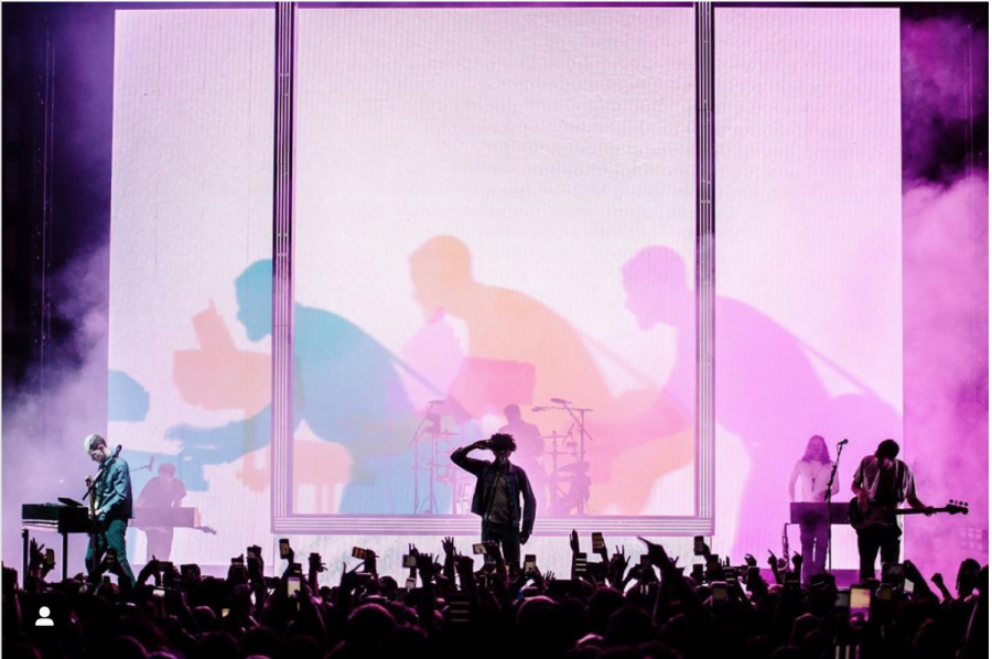 The+1975+performing+at+Chicago%27s+United+Center+on+May+8.