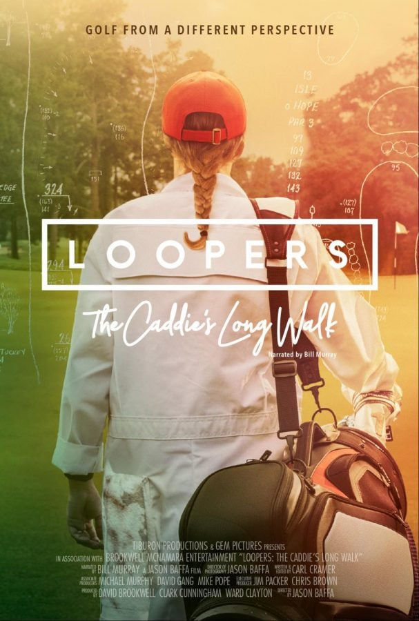 A cover poster for the upcoming documentary Loopers, a history of caddying in golf.