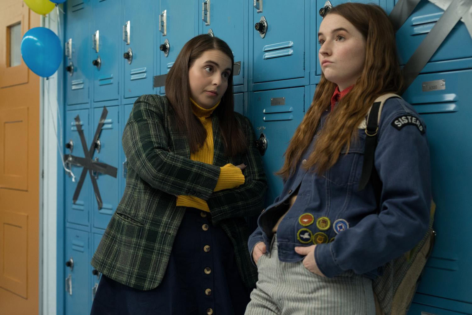 Beanie Feldstein and Kaitlyn Denver in