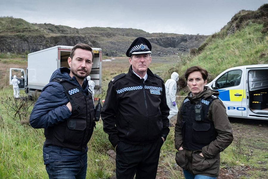 Martin Compston, Adrian Dunbar and Vicky McClure in the wildly popular BBC cop drama