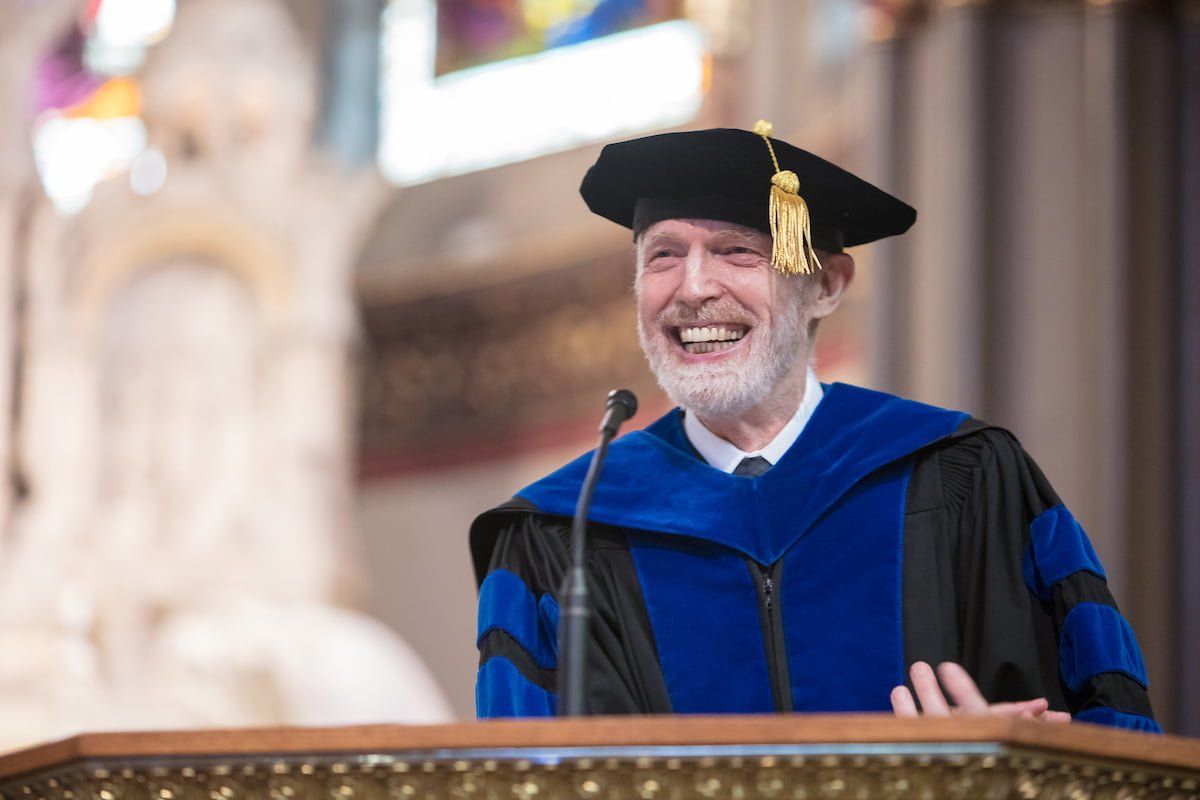 Marten denBoer, provost, offers remarks during the 120th DePaul University Convocation on Thursday, August 31, 2017, at St. Vincent de Paul Parish.
