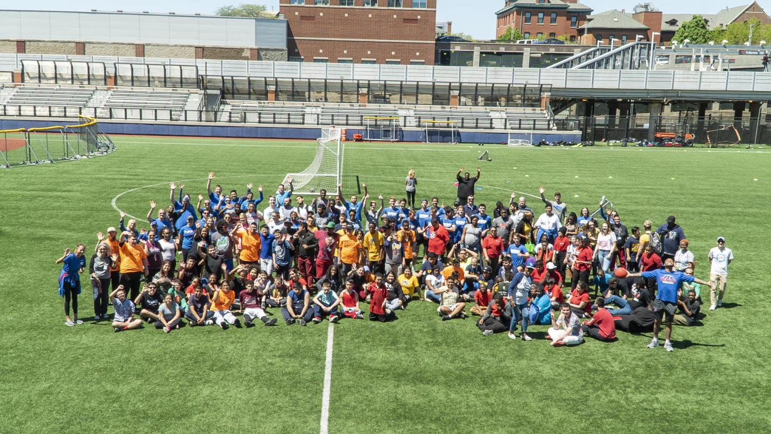 DePaul partnered with special olympics Chicago to host a sporting event known as