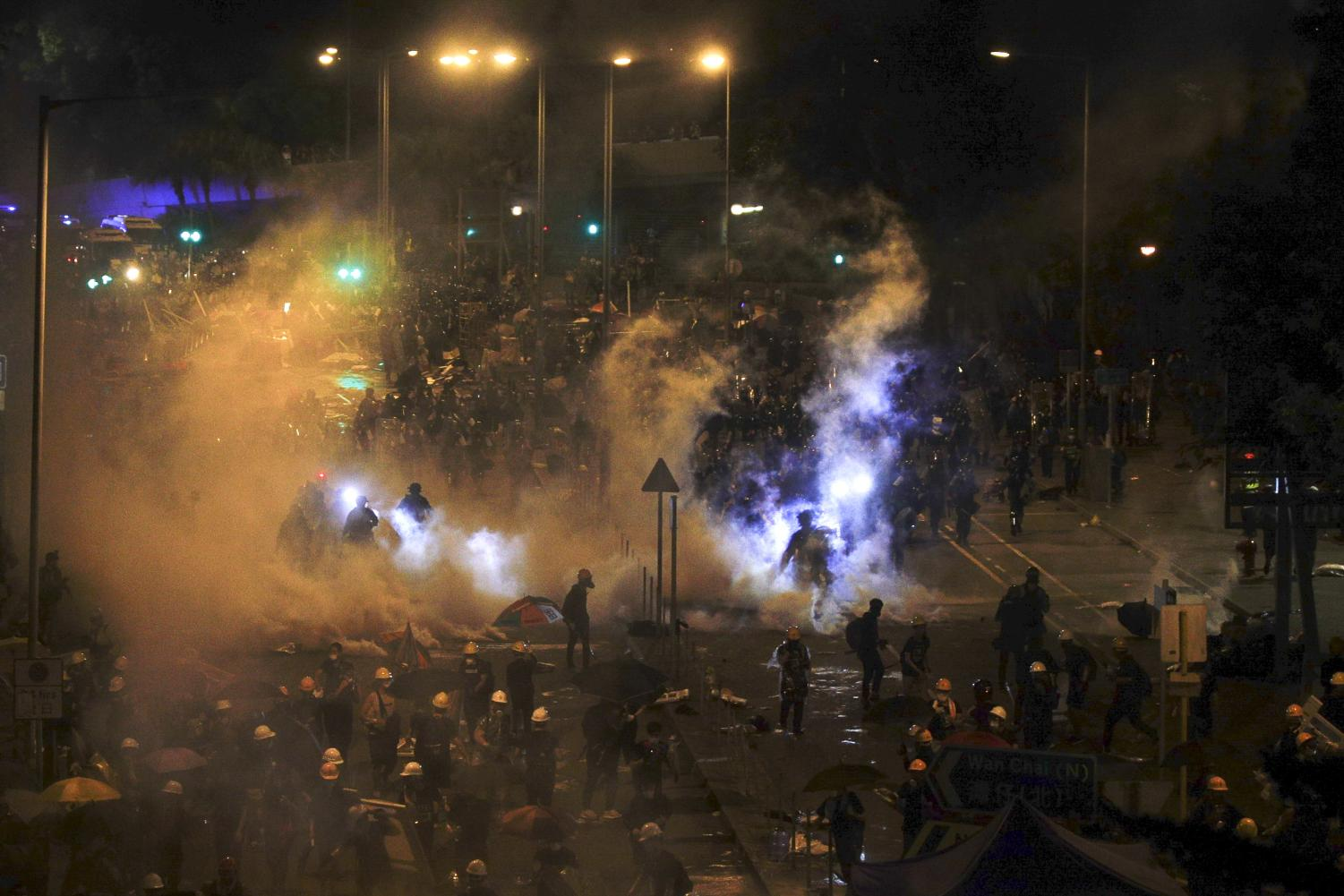 Hong Kong police clear protesters from legislature building - The