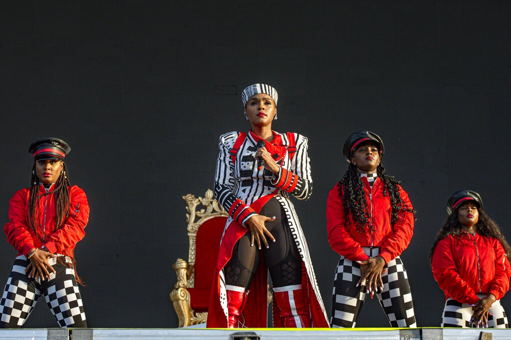 Janelle Monae performs on day two of Lollapalooza in Grant Park on Friday, Aug. 2, 2019, in Chicago.