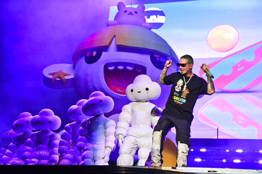 J Balvin performs on day three of Lollapalooza in Grant Park on Saturday, Aug. 3, 2019, in Chicago.