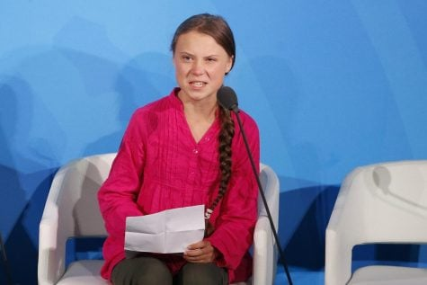 Environmental activist Greta Thunberg, of Sweden, addresses the Climate Action Summit