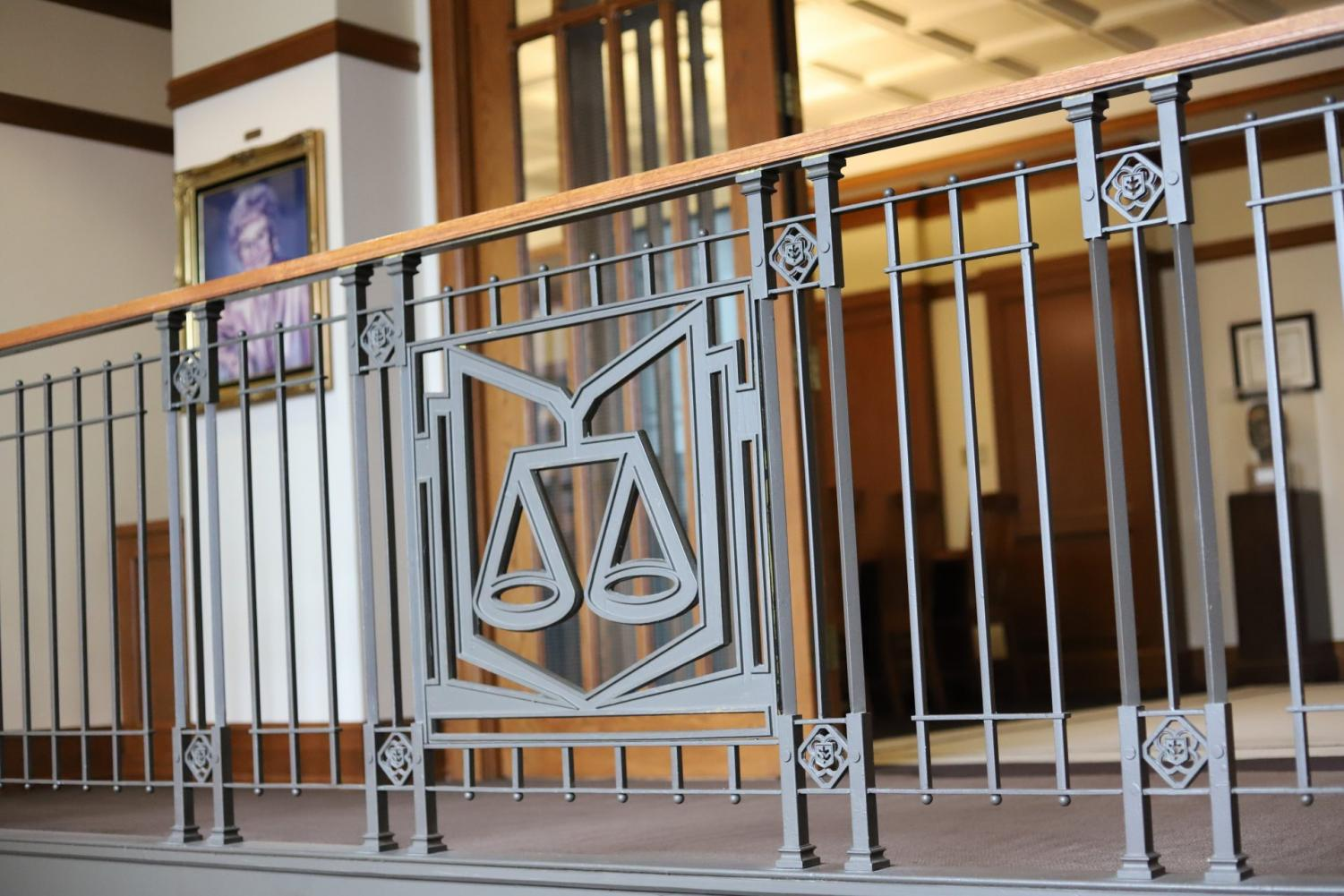 The Law School's library provides a silent haven for students interested in taking the LSAT.