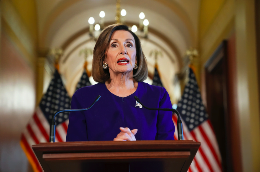 House Speaker Nancy Pelosi of Calif., reads a statement announcing a formal impeachment inquiry into President Donald Trump, on Capitol Hill in Washington, Tuesday, Sept. 24, 2019.